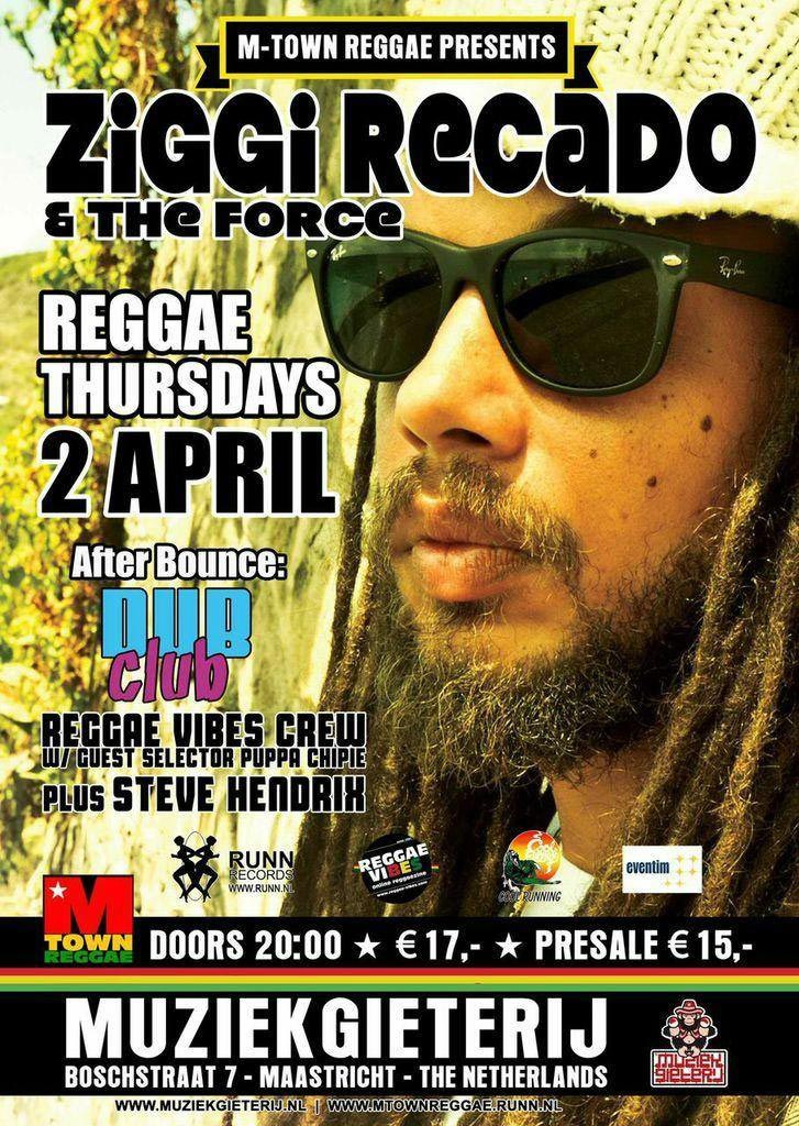 M-Town Reggae – Ziggi Recado 02-04-2015