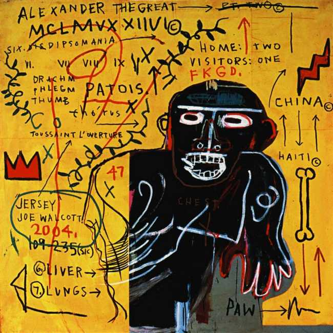 All Colored Past Part III by Jean-Michel Basquiat (1982)