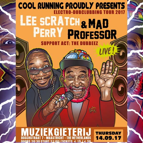 Electro-Dubclubbing Tour 2017: Mad Professor & Lee 'Scratch' Perry @ Muziekgieterij