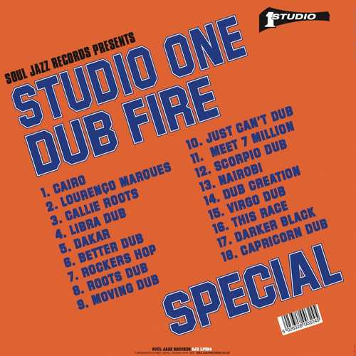 Back Dub Specialist - Studio One Dub Fire Special