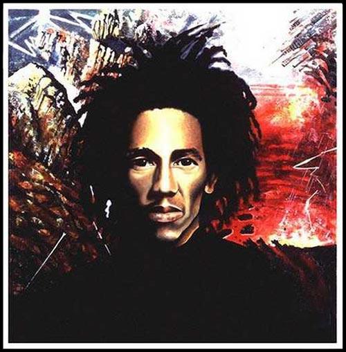 Original portrait of Bob Marley used for the artwork of Marley's LP Natty Dread
