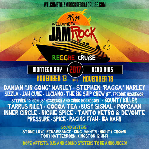 Welcome To Jamrock Reggae Cruise 2017