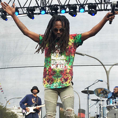 Jesse Royal performing at the 2018 One Love Cali Reggae Festival, Long Beach CA (Photo: Stephen A. Cooper))