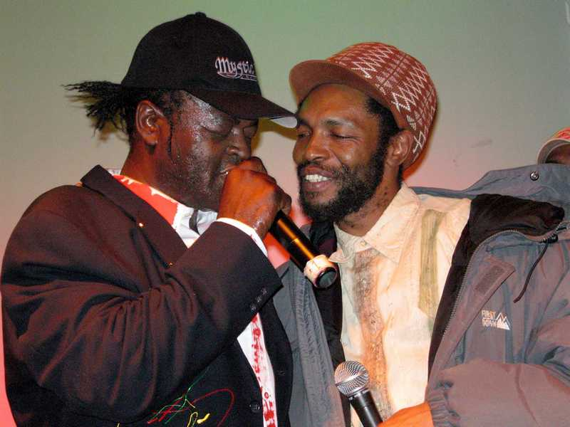 Sugar Minott & Judah Eskender Tafari performing at SOB's NYC on 2-6-2006
