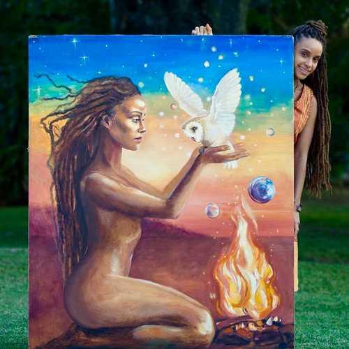 Kelissa & Nakazzi's painting