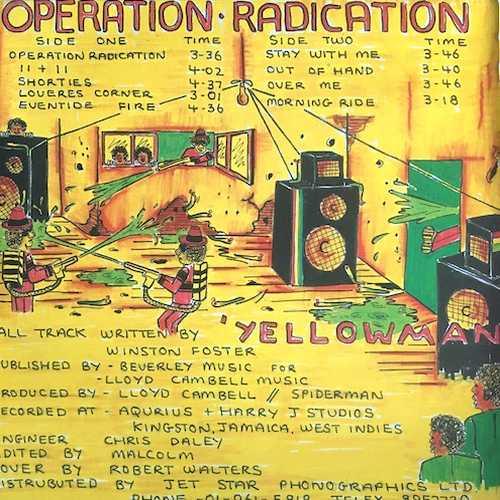 Operation Radication - back cover