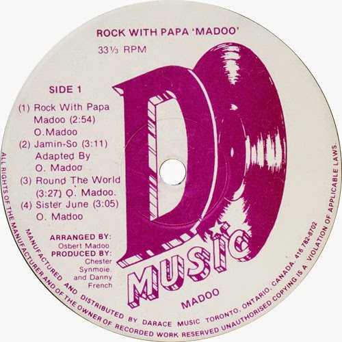 Madoo - Rock With Papa Madoo label