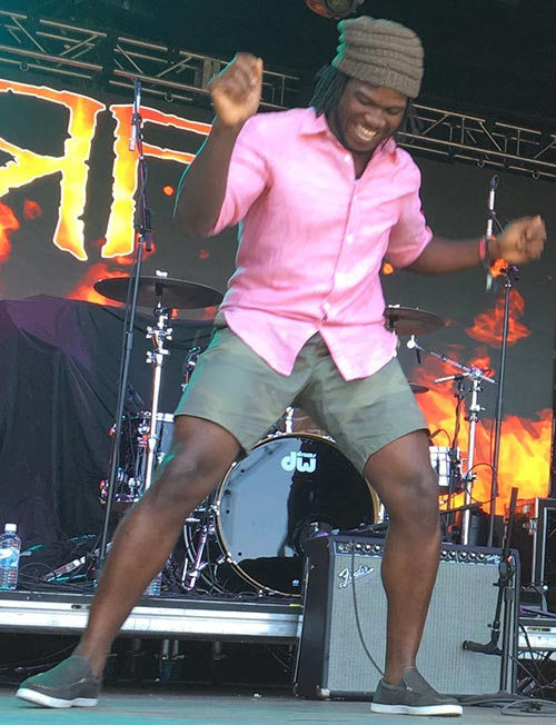 Raging Fyah's Demar Gayle (Photo; Stephen Cooper)