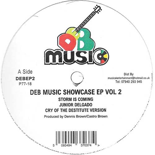 DEB Music Showcase EP Vol. 2: Junior Delgado - Storm Is Coming