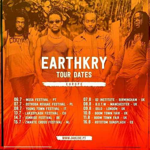 EarthKry's European Summer 2018 Tour