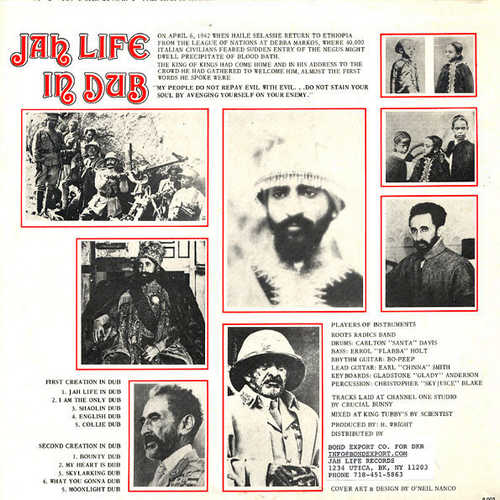 Jah Life In Dub back