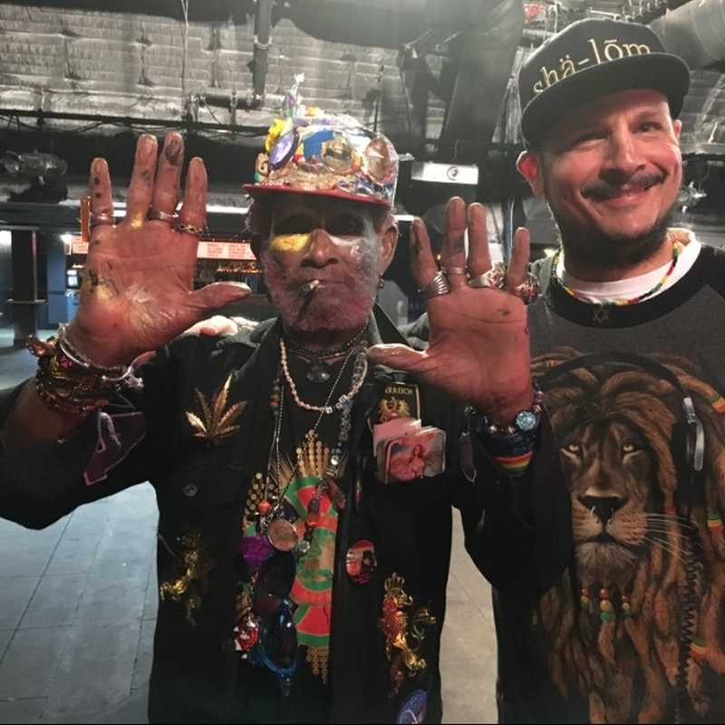 "Lee ""Scratch' Perry & writer Stephen Cooper (Photo Stephen Cooper)"