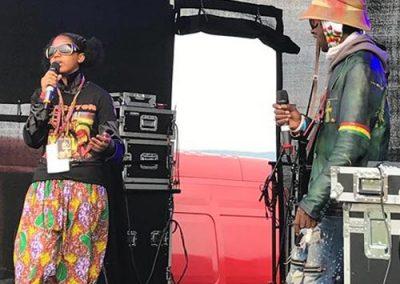 Scratchylus & Empress Reggae on stage