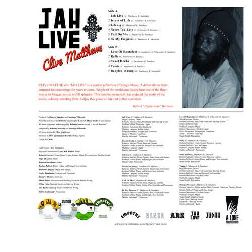 Backsleeve Jah Live LP