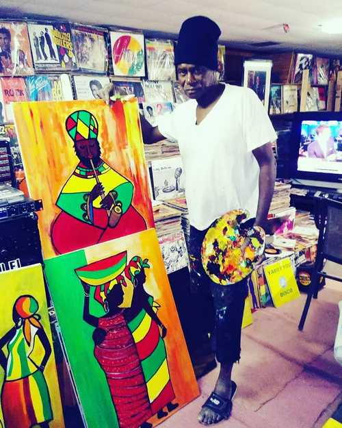 Jah Wise and his paintings