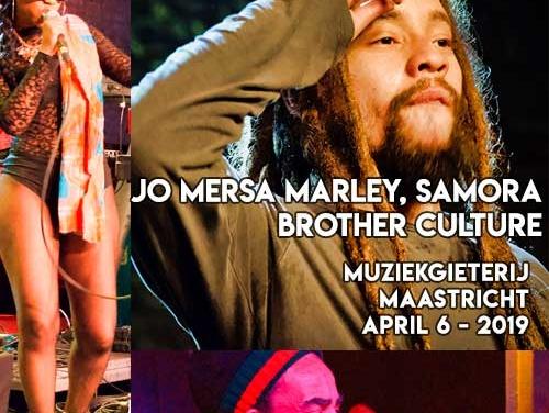Jo Mersa Marley x Samora x Brother Culture – Muziekgieterij Maastricht