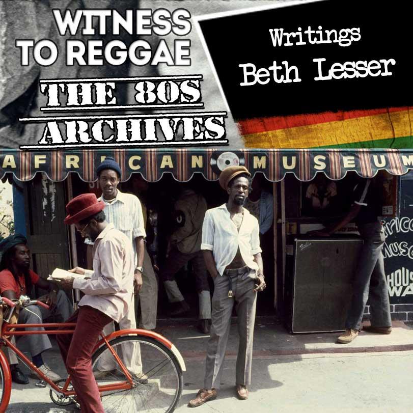 Beth Lesser: Witness To Reggae – Writings
