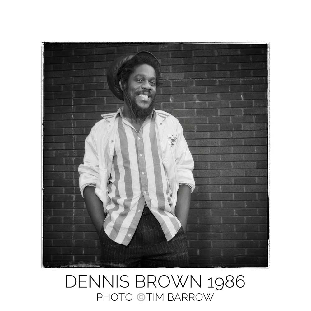 Dennis Brown 1986 by Tim Barrow