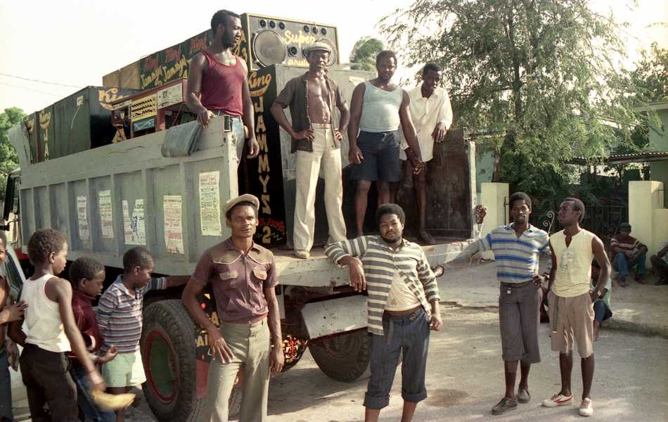 Jammy Crew with their truck - 1987