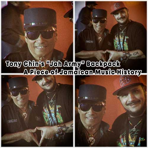 """Tony Chin's """"Jah Army"""" Backpack: A Piece of Jamaican Music History"""