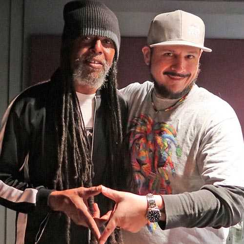 General Jah Mikey & Stephen Cooper (Photo: Stephen Cooper)