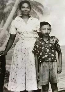 Tony Chin with his mother, Inez Noyan (photo courtesy of Tony Chin)