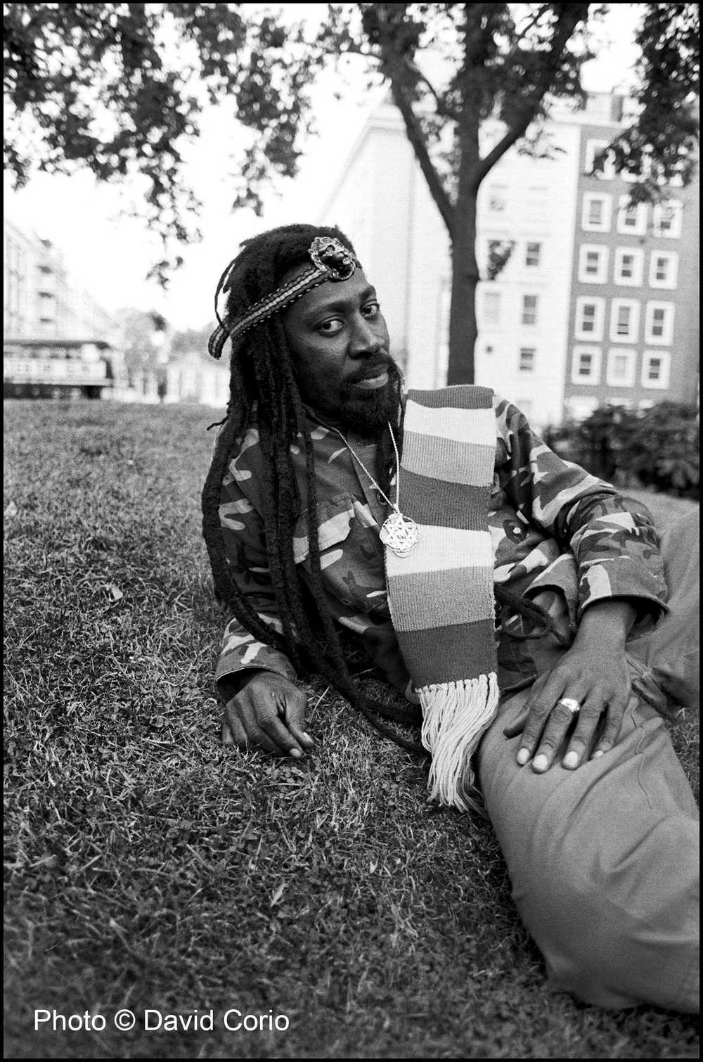 Bunny Wailer in Notting Hill, London 17 August 1988 by David Corio