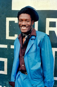 Horace Andy in front of Channel One - 1984