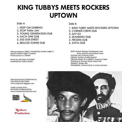 Backsleeve King Tubbys Meets The Rockers Uptown