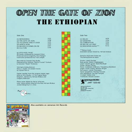 Backsleeve Open The Gate To Zion