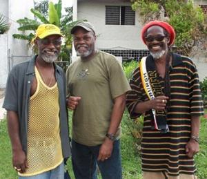 Vivian Jones, Carlton Hines. Norris Reid at Bustout studio JA 2009