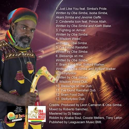 Backsleeve Oba Simba - The Arrival