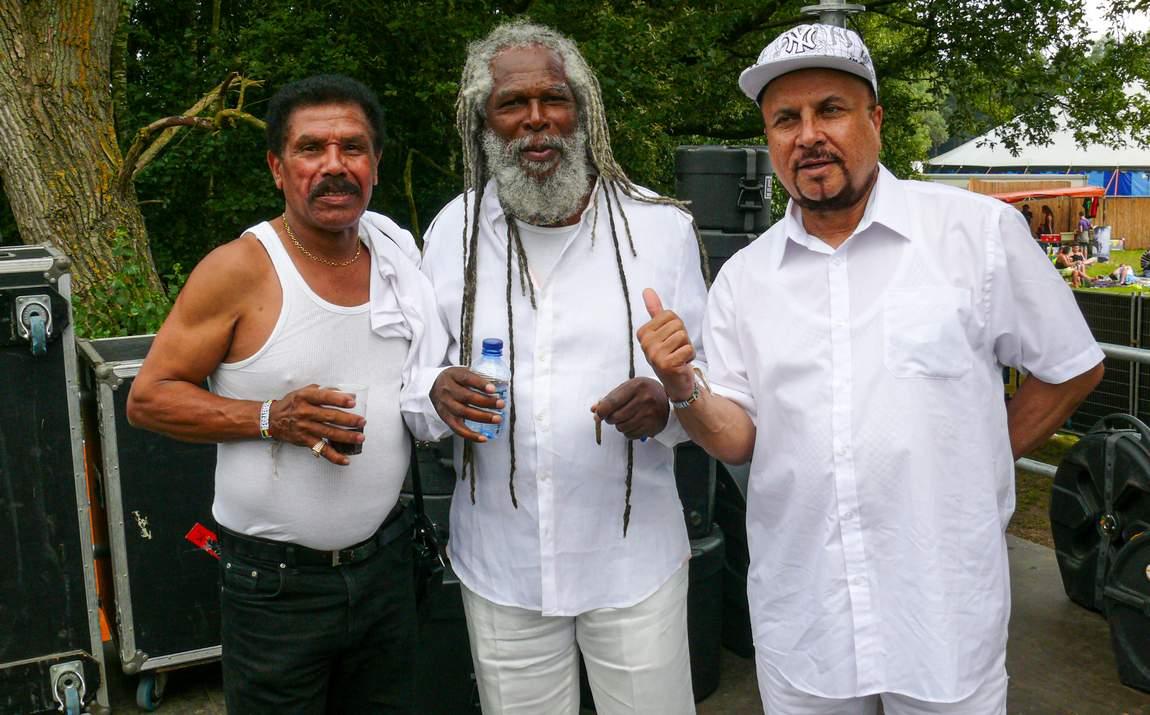 Winston Francis, Bob Andy & Dennis Alcapone - Reggae Geel 2012 (Photo: Teacher)