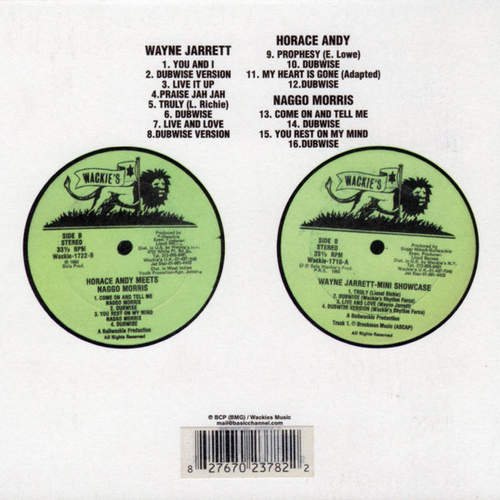 Backsleeve Horace Andy x Naggo Morris / Wayne Jarrett – Horace Andy Meets Naggo Morris / Mini Showcase