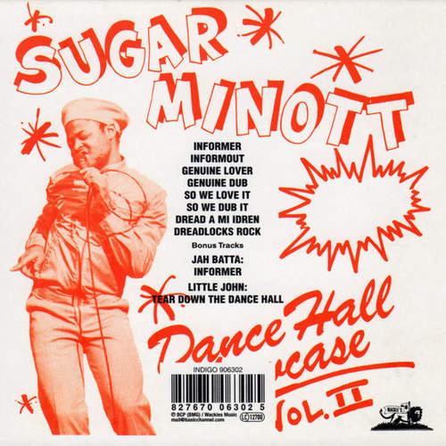 Backsleeve Sugar Minott - Dance Hall Showcase Vol. II
