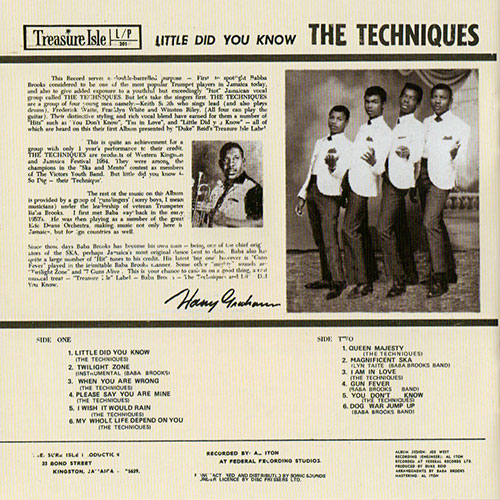 The Techniques - Little Did You Know