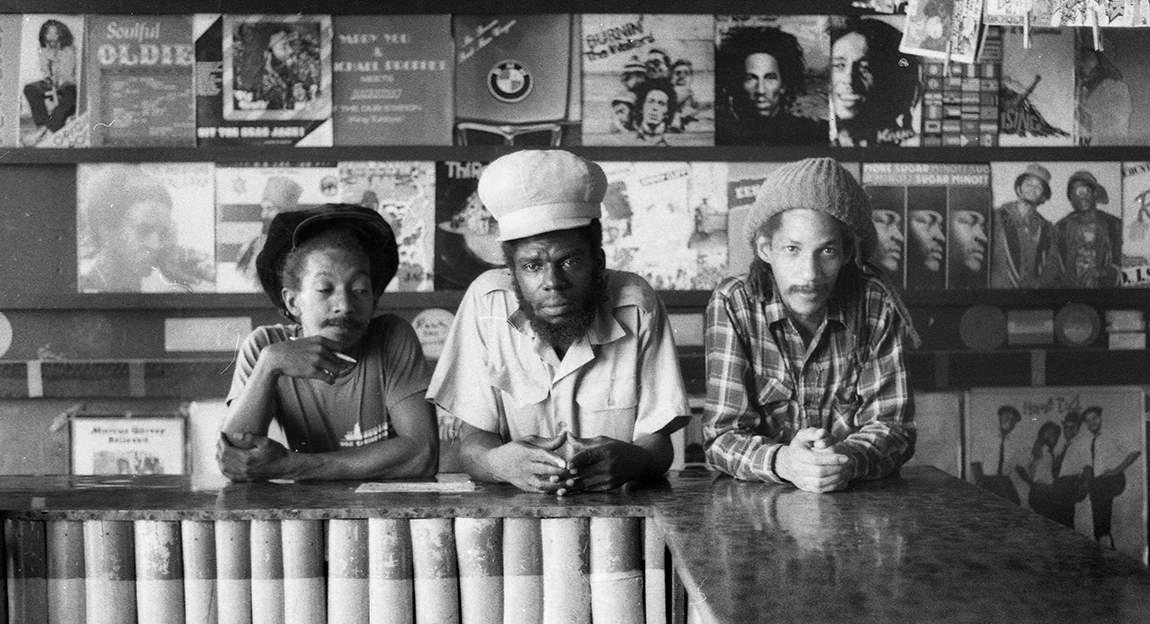 Micko McKenzie, Jah Bull, Augustus Pablo 1983 (Photo: Beth Lesser)