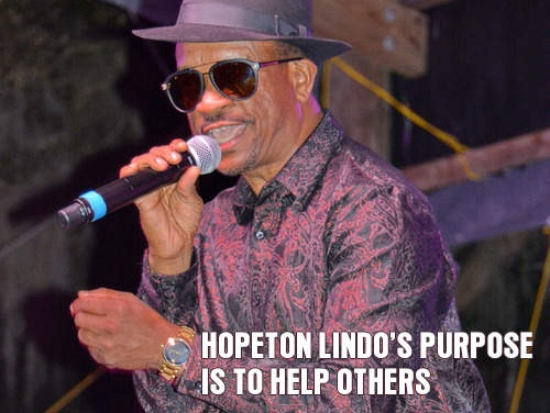 Hopeton Lindo's purpose is to help others