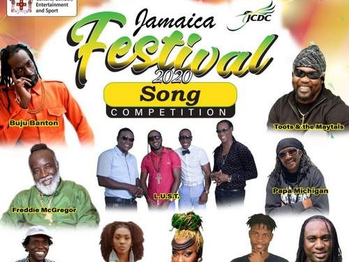 Grange puts 2020 Jamaica Festival Songs on global stage