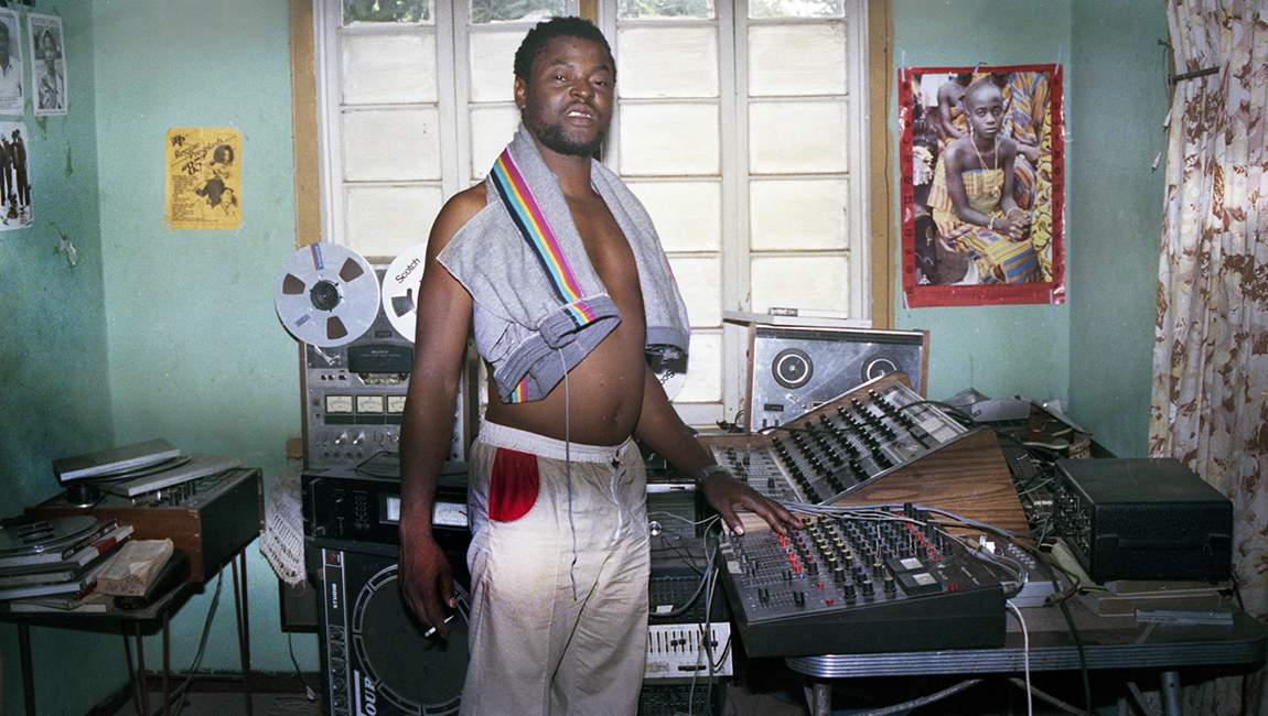 Sugar Minott in his bedroom studio - 1985 (Photo: Beth Lesser)