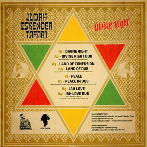 Backsleeve Judah Eskender Tafari - Divine Right