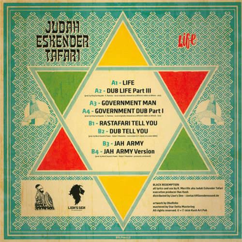 Backsleeve Judah Eskender Tafari - Life