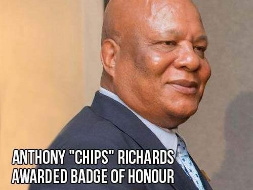 "Anthony ""Chips"" Richards awarded Badge of Honour"