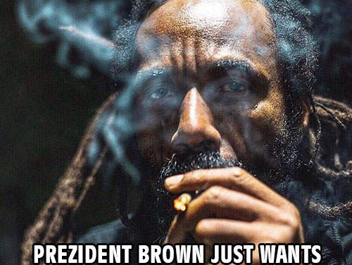 Prezident Brown just wants to make good music