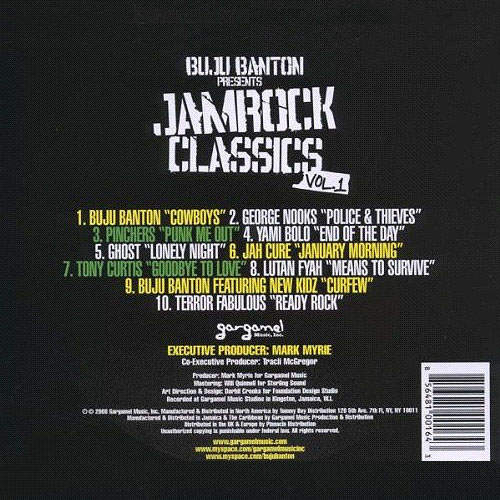 Backsleeve Buju Banton Presents Jamrock Vol. 1