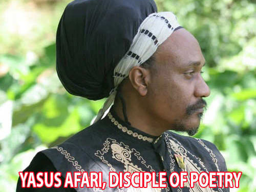 Yasus Afari, disciple of poetry